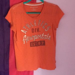 Aeropostale orange short sleeve tee XL